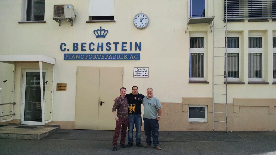 Curso de técnico em pianos realizado na Bechstein na alemanha