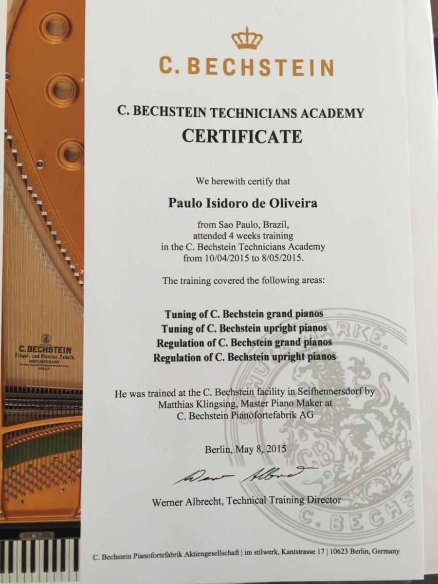 Certicado Bechstein de Técnico