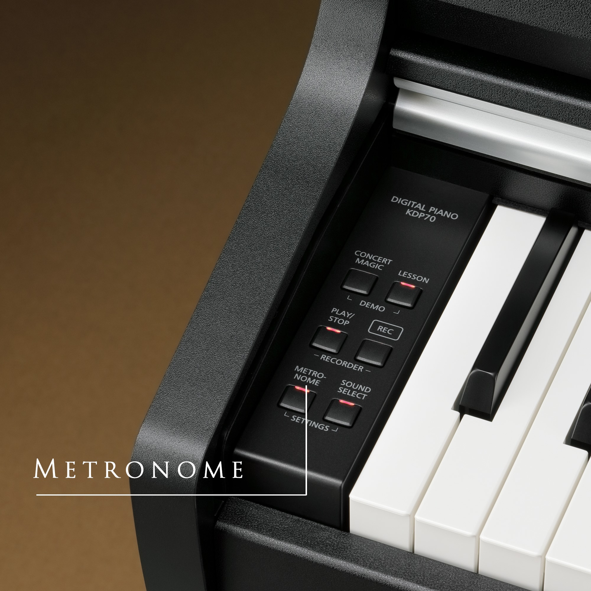 Piano Digital Kawai KDP-70 - Metronomo